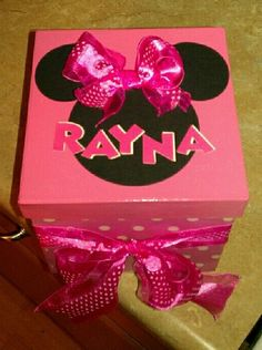 Minnie Mouse Box for a bday gift