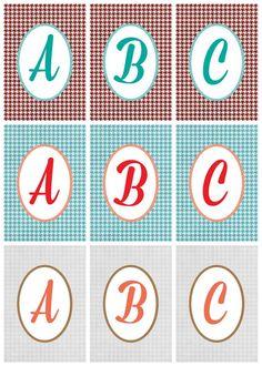 FREE printable alphabet letters : monograms | Positively Splendid