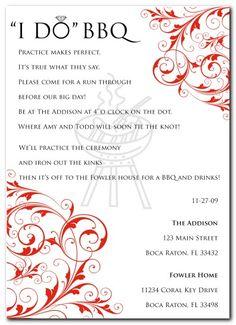 invitation for rehearsal & dinner!