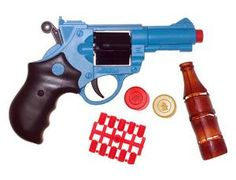 The Edison Super Target is a soft pellet gun set that is perfect for children and adults to play with. This gun fires soft 'gummy' pellets (never fire the gun at the face). This model includes an 6 shot pistol, pellets and various targets.