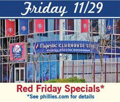 Phillies Thanksgiving Weekend leads off with Red Friday specials, holiday deals and fan fun! holiday deal, fan fun