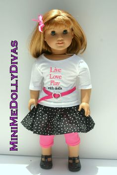 Live  Love Play With dolls 5 piece outfit for by MiniMeDollyDivas, $25.00