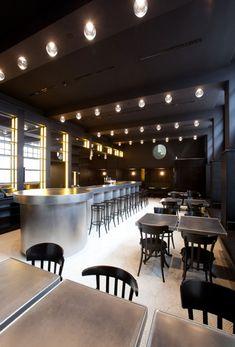 interior design, herzog, art photography, de meuron, brasseri, volkshausbasel, volkshaus basel, basel bar, stainless steel