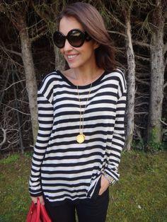 Paula Echevarria wearing MANGO t-shirt