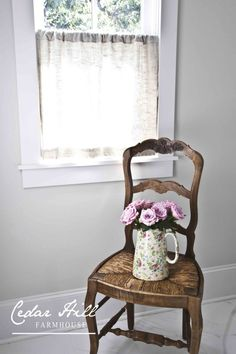 DIY Linen and Lace Curtain - Easy & Pretty!