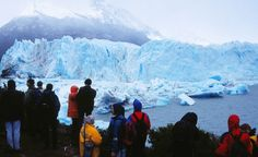 The blue hue at the face of the glacier comes from oxygen trapped inside the ice. (Courtesy dominicspics/Flickr)