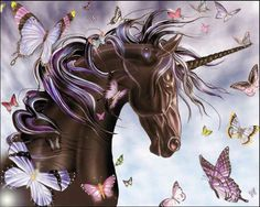 Free Wallpapers - Unicorn and Butterflies wallpaper
