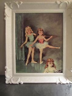 Vintage Framed Print of Ballerina Girls by myfancies on Etsy, $14.50