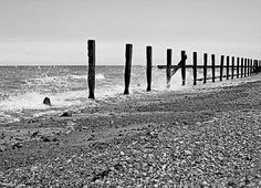 Parallel Perspective Print by ©ifourdezign available from #FineArtAmerica (via Pixels.com) #Photography #Sea #Waves #British #Coast #Beaches #BlackAndWhite (Please retain ALL credit - TY)
