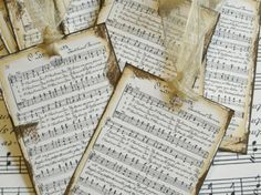 I love music sheets!