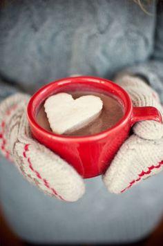 hot cocoa, heart mar