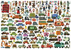 Tom Schamp illustrator children's books cars pedestrians