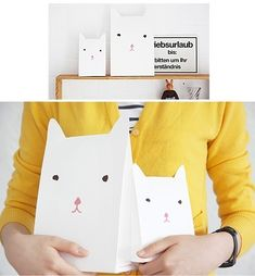 kitty cats, gift bags, wrap gifts, gift wrapping, amelie, paper bags, gift pack, ameli gift, parti
