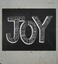 Joy To The World Christmas Chalkboard