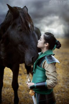 Mulan cosplay. This is awesome.