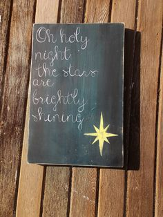 Oh Holy Night christmas sign holiday sign by Thesparrowshoppe, $36.99