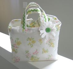 lunch box from vintage pillowcase