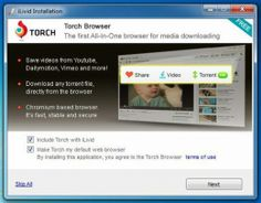 STEP 2: Torch Browser. Uninstall iLivid Download Manager - 2. STEP 3: Installation completed successfully! See the additional install options as follow: