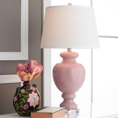 Timeless Pink Glass Table Lamp