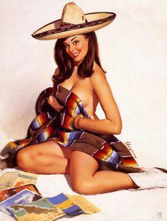 Mexican pin girl