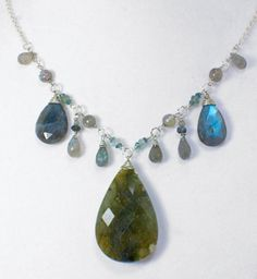 Labradorite Aquamarine and Tourmaline Station