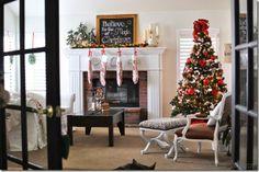 french door, traditional christmas, holiday 2013, christma decor, christma tour, holiday stuff