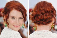 Loving everything about this! dalla howard, bridesmaid hair, red hair, color, dallas, bryce dalla, braids, hairstyl, beauti