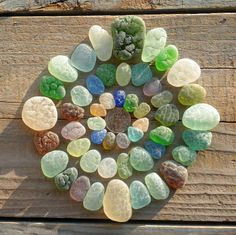 Look at those textures! Love the beach glass or tumbled glass or whatever it is! I want to make jewelry out of it!!!