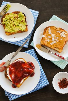 Toast Three Ways - Ideas to turn boring old toast into an interesting morning meal. #SundaySupper | foxeslovelemons.com