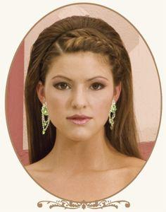 Greek look hairstyle