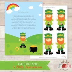 5 Little Leprechauns Free Printable