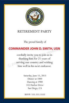 retirement party program template