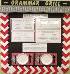 Grammar grill middle school bulletin board - Google Search