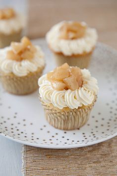 Pear Vanilla Bean Cupcakes