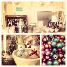 Christmas crafting party and hot chocolate bar