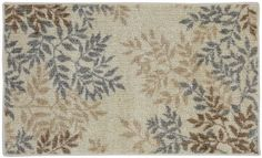 Townhouse Rugs Meadow Leaves Neutral Area Rug, 20 by 34-Inch