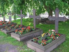 Iron Grave Markers in Norwegian Cemetery