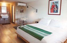 Bedroom at Dogfish-Inn I Remodelista