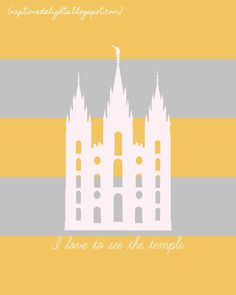 Free Salt Lake City Temple Prints ~ Many colors to choose from