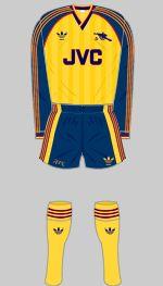 1988-1991 Arsenal Kit