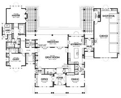 Master suite floor plan on pinterest house plans floor for His and hers bathroom floor plans
