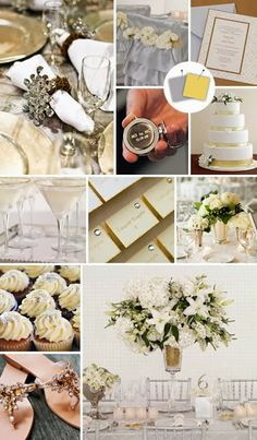 A Silver and Gold Theme Wedding. http://memorablewedding.blogspot.com/2013/12/a-silver-and-gold-theme-wedding.html