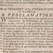 Thanksgiving Proclamation | George Washington's Mount Vernon