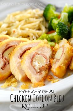Chicken Cordon Bleu Roll Up (Freezer Cooking Meal) + 10 Days of Freezer Meal Recipes!