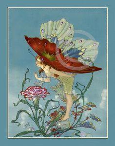 Beautiful Rare Bubble Fairy by Harold Gaze by DragonflyMeadowsArt, $18.00