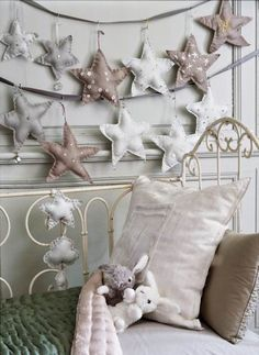 child room, little girls, stars, ribbon, kid rooms, twinkle twinkle, garlands, little girl rooms, christma