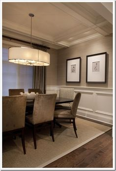 #dining room - light fixture, less monochrome