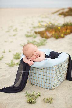 Newborn beach photos