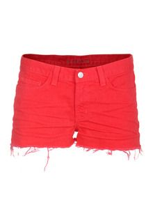 #shorts in bright red