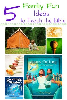 It is so important as a parent that we are intentional about teaching our children the truth of God's Word and guiding them to become rooted. Here are 5 FUN ideas for teaching your children the Bible today!